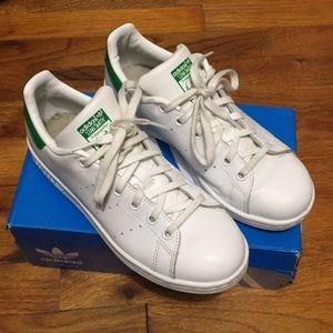 White & Green Adidas Stan Smith Sneakers